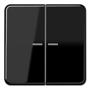 Клавиша 2-ая для двухклавишного выключателя/кнопки с подсветкой Jung CD Черный
