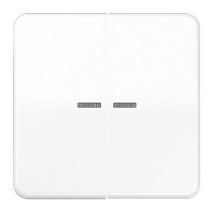 Клавиша 2-ая для двухклавишного выключателя/кнопки с подсветкой Jung CD Белый