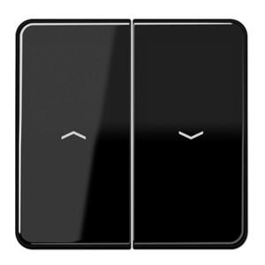 Клавиша 2-ая для жалюзийного выключателя/кнопок Jung CD Черный