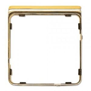 Внешняя цветная рамка Jung CD Plus Полированное золото