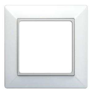 Рамка 1-ая для вертикальной и горизонтальной установки Jung ECO Profi Белый