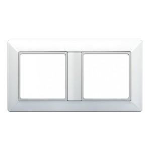 Рамка 2-ая для вертикальной и горизонтальной установки Jung ECO Profi Белый