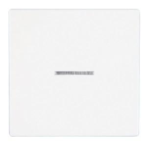 Клавиша 1-ая с подсветкой для выключателей Jung ECO Profi Белый