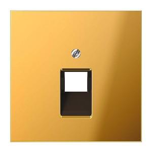 Накладка 1-ая компьютерной/телефонной RJ45/RJ11 розетки наклонная Jung LS Имитация золота