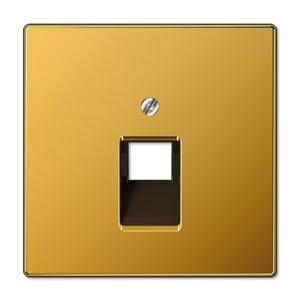 Накладка 1-ая компьютерной/телефонной RJ45/RJ11 розетки наклонная Jung LS Золото