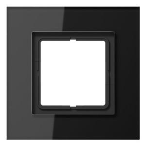 Рамка 1-ая Jung LS-Plus Стекло черное