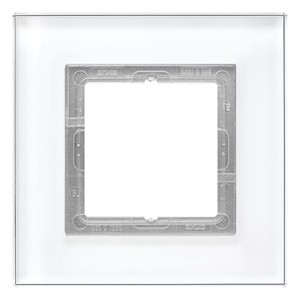 Рамка 1-ая Jung LS-Plus Стекло белое