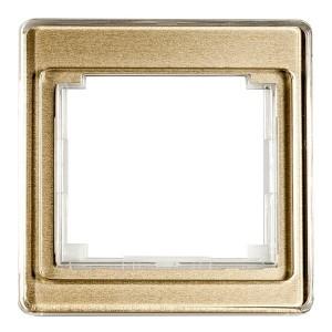 Рамка для вертикальной и горизонтальной установки 1-ая Jung SL500 Золотая бронза