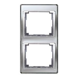 Рамка для вертикальной установки 2-ая Jung SL500 Серебро