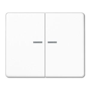 Клавиша 2-ая с посветкой для двухклавишного выключателя или кнопки Jung SL500 Белый