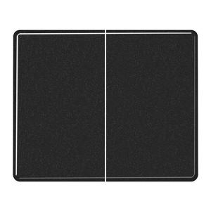 Клавиша 2-ая для двухклавишного выключателя или кнопки Jung SL500 Черный