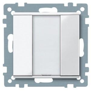 1 кнопочный выключатель PLUS Merten, полярно белый
