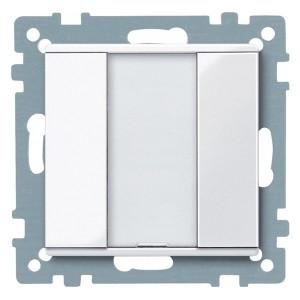 1 кнопочный выключатель PLUS Merten, активно белый