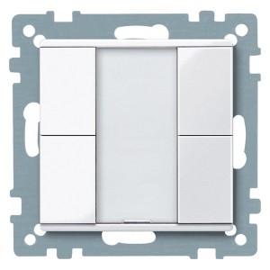 2-х кнопочный выключатель PLUS Merten, активно белый