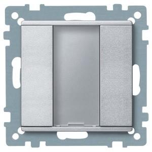 1 кнопочный выключатель PLUS Merten, алюминий