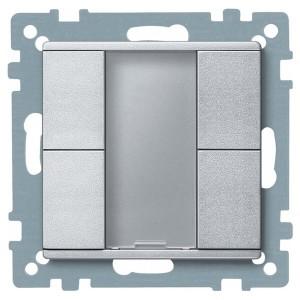 2-х кнопочный выключатель PLUS Merten, алюминий
