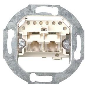 Механизм двойнарной телефонной розетки RJ11/12 Rutenbeck
