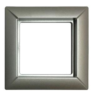 Рамка 1-ая для вертикальной и горизонтальной установки Jung ECO Profi Алюминий