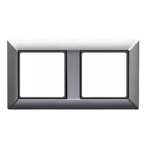 Рамка 2-ая для вертикальной и горизонтальной установки Jung ECO Profi Алюминий