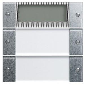 Комплект клавиш Plus, 2 шт. с полем для надписей Gira KNX/EIB System 55 Алюминий
