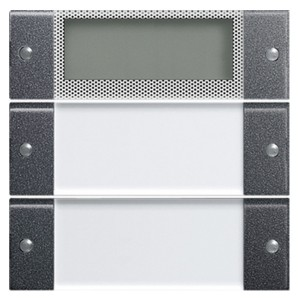 Комплект клавиш Plus, 2 шт. с полем для надписей Gira KNX/EIB System 55 Антрацит