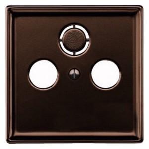 Накладка телевизионной розетки TV+FM+(SAT) System Design Merten коричневый