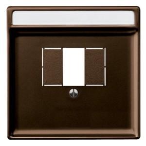 Накладка USB зарядки и акустических розеток System Design Merten коричневый
