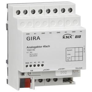 Аналоговый выход, 4-канальный Gira KNX/EIB REG-типа