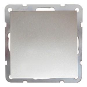 Выключатель 1-кл.  (схема 1) 16 A, 250 B Экопласт LK60, серебристый металлик