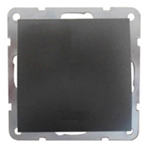 Выключатель 1-кл.  (схема 1) 16 A, 250 B Экопласт LK60, черный бархат