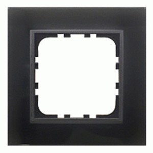Рамка 1-постовая Экопласт LK60 из натурального темного стекла