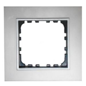 Рамка 1-постовая Экопласт LK60 из натурального анодированного алюминия LK60