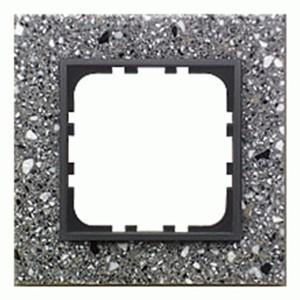 Рамка 1-постовая Экопласт LK60 из декоративного камня (серый гранит) LK60