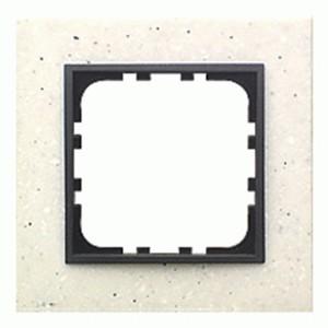 Рамка 1-постовая Экопласт LK60 из декоративного камня (белый мрамор) LK60