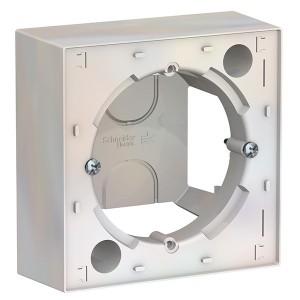 Коробка 1 пост для накладного монтажа SE AtlasDesign, жемчуг