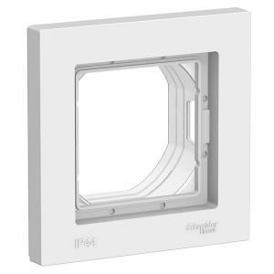 Рамка SE AtlasDesign Aqua 1 пост IP44, белый
