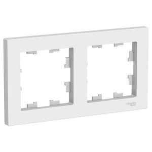 Рамка SE AtlasDesign Aqua 2 поста IP44, белый
