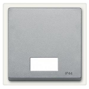 Клавиша 1-ая для выключателей с световой индикацией IP44 System M Merten алюминий