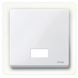Клавиша 1-ая для выключателей с световой индикацией IP44 System M Merten активный белый