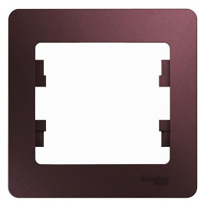 Рамка Glossa 1-постовая , баклажановый