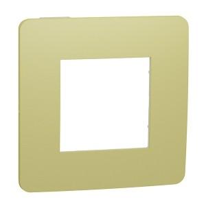 Рамка Unica Studio Color 1 пост, зеленое яблоко/белый