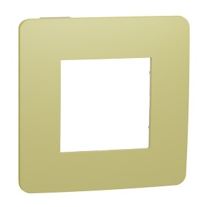 Рамка Unica Studio Color 1 пост, зеленое яблоко/бежевый