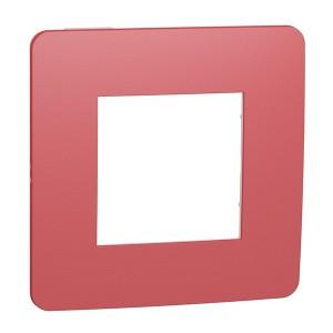 Рамка Unica Studio Color 1 пост, красный/белый