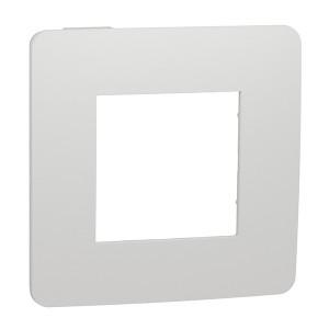 Рамка Unica Studio Color 1 пост, белый/белый