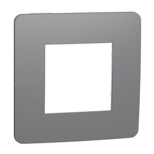 Рамка Unica Studio Color 1 пост, дымчато серый/белый