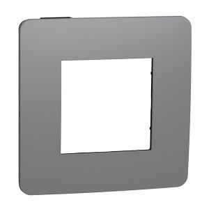 Рамка Unica Studio Color 1 пост, дымчато серый/антрацит