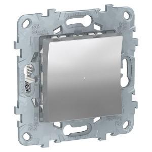 Релейный выключатель Wiser нажимной 10А SE Unica NEW, алюминий