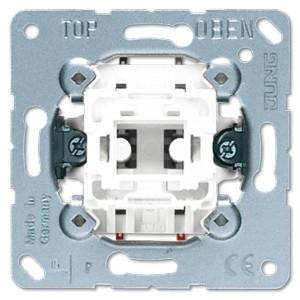 Выключатель кнопочный 1-клавишный 2-х полюсный 10а Jung механизм