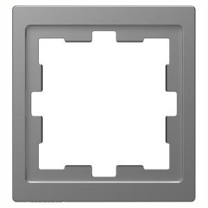 Рамка 1-ая Merten D-Life, нержавеющая сталь