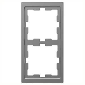 Рамка 2-ая Merten D-Life, нержавеющая сталь